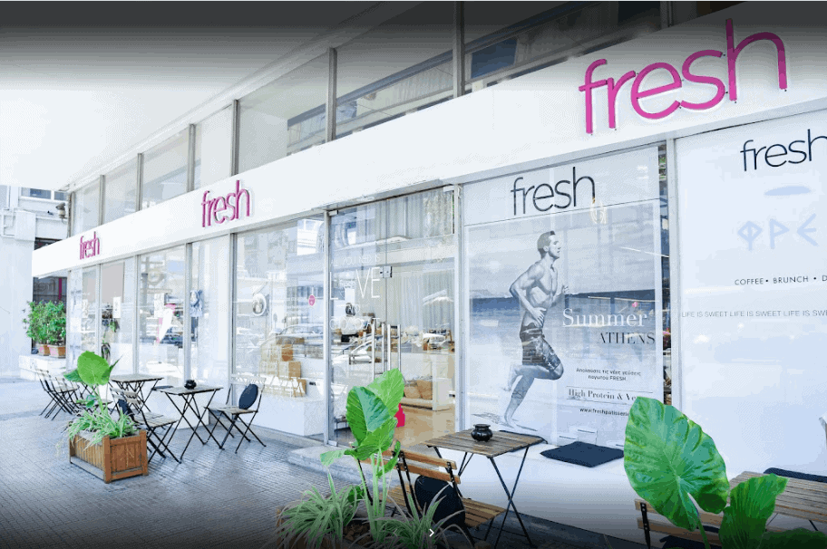 Fresh Cafe in Athens, Greece
